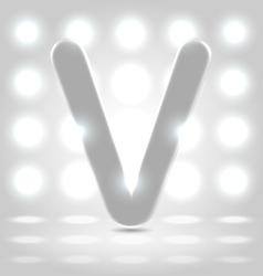 V over lighted background vector image vector image