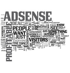 adsense is for everyone text word cloud concept vector image