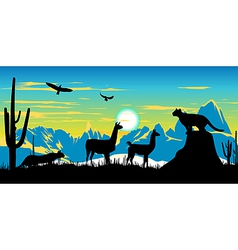 Argentinian Wildlife Background vector image
