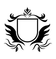 decorative shield heraldry victorian elegant frame vector image vector image