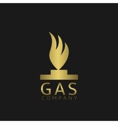 Golden fire symbol vector image vector image