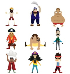 Pirate cartoon vector image