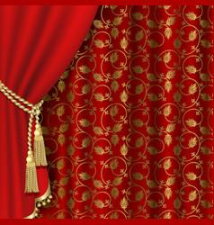 royal curtain vector image vector image