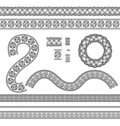Seamless trims for use with fabric projects vector