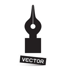 Symbol - Black Pen Icon Isolated on White vector image vector image