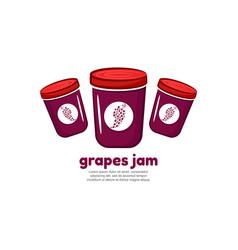 Template logo for grapes jam vector