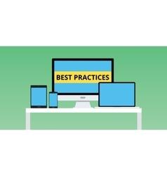 best practice practices with notebook vector image