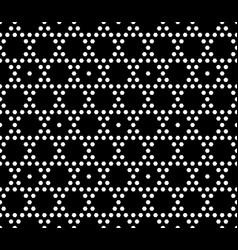 geometric seamless pattern small hexagons vector image