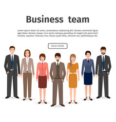 group of business team set of flat men and women vector image