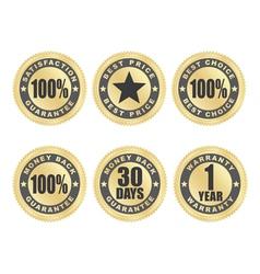 satisfaction guarantee seals vector image