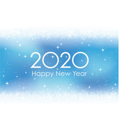 2020 new years card background with snowflakes vector image