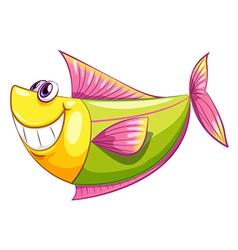 A smiling colorful aquatic fish vector image