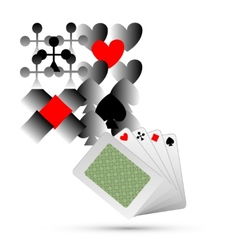 Abstract Playing Card Elements Background vector image