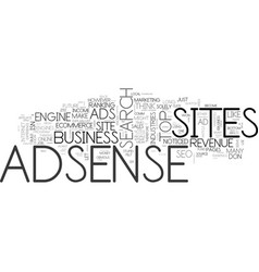 Adsense is stupid when text word cloud concept vector
