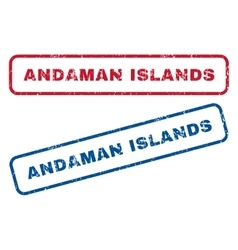 Andaman Islands Rubber Stamps vector image