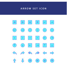 arrows icons set filled outline vector image