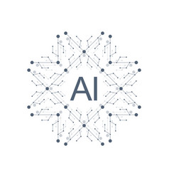 artificial intelligence logo icon symbol ai vector image