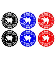 azerbaijan rubber stamp vector image