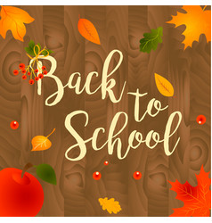 Back to school sale background with leaves vector