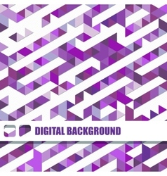 background of different color triangles vector image