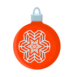 ball xmas isolated icon cartoon style for vector image