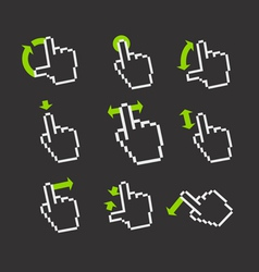 Basic gestures to work with modern gadgets vector image