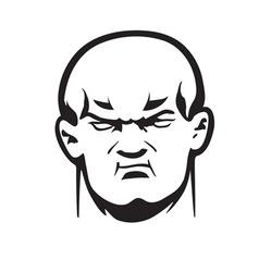 Big bully head vector