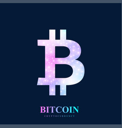 bitcoin physical bit coin bitcoin digital vector image