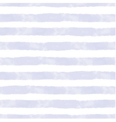 Blue watercolor stripes on white seamless vector