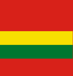bolivia flag icon in flat style national sign vector image
