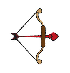 Bow and arrow ove valentines day related icon icon vector