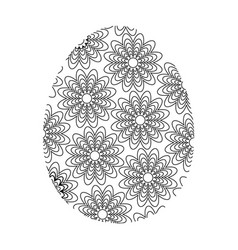 Coloring easter egg vector