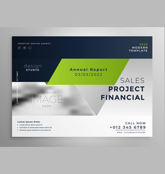 creative professional green business brochure vector image