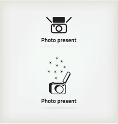 Creative symbol for a photographer vector image