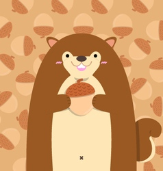 Cute big fat squirrel vector