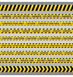 Danger tapes vector image