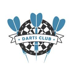 Darts club logo vector
