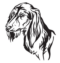 decorative portrait of dog saluki vector image