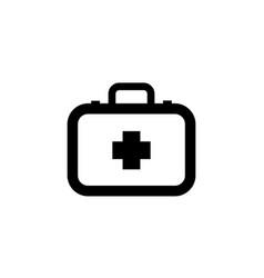 doctor suitcase healthcare simple black icon vector image