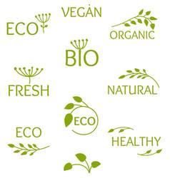 Eco bio organic seamless pattern print vector