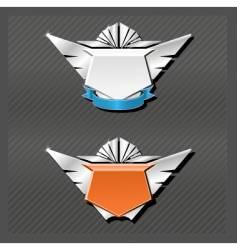 Emblems series wings vector