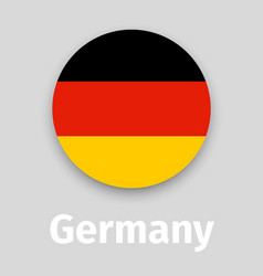 germany flag round icon vector image