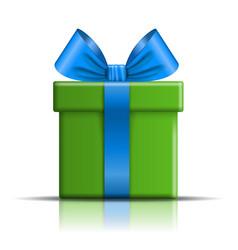 Gift box icon surprise present template blue vector