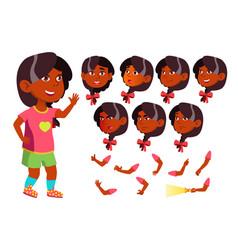 Girl child kid teen indian hindu vector