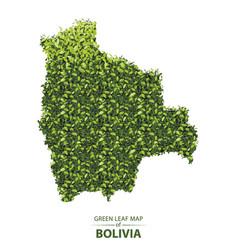 Green leaf map bolivia vector