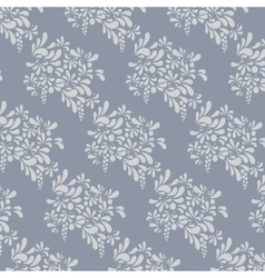 Grey floral pattern Endless background vector