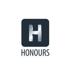 honours square initial letter h logo concept vector image