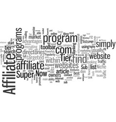 How to profit from tier affiliate programs and vector