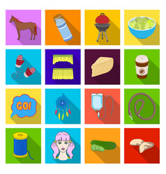 Hygiene diet business and other web icon in flat vector