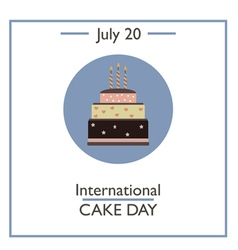 International Cake Day vector image
